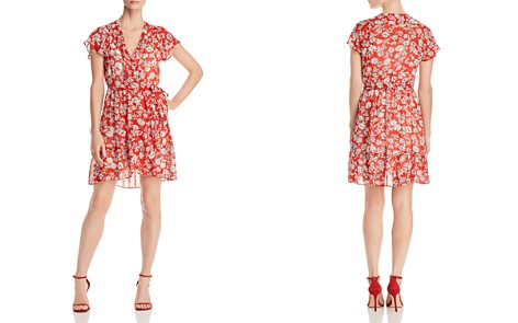 Red Haute Printed Wrap Dress - Bloomingdale's_2